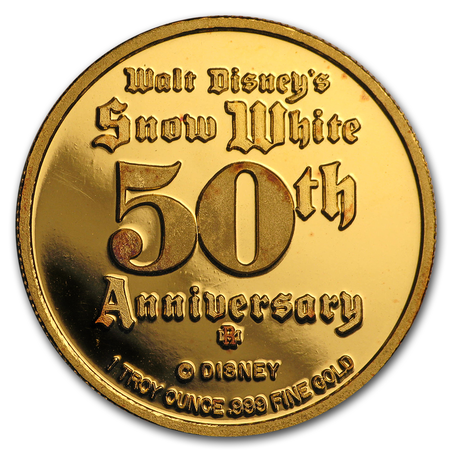 1 oz Gold Round - Disney Snow White 50th Anniversary