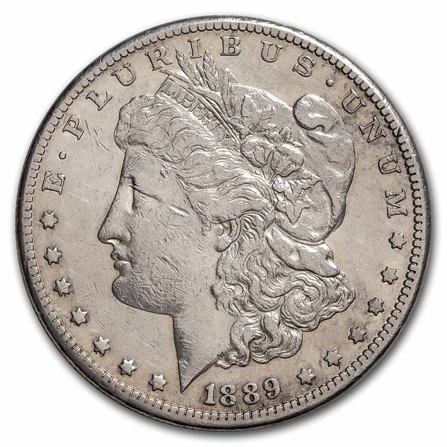 1889-CC Morgan Dollar XF Details (Cleaned)