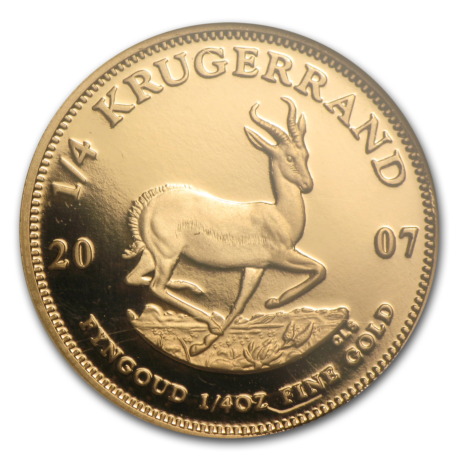2007 1/4 oz Gold South African Krugerrand PF-69 NGC