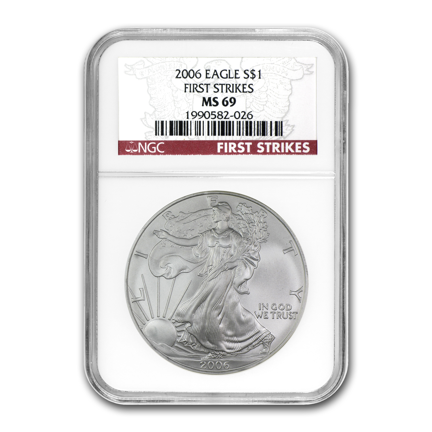 2006 Silver American Eagle - MS-69 NGC - First Strike Label
