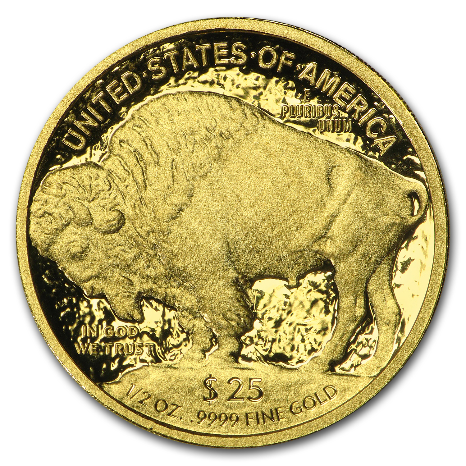 2008-W 1/2 oz Proof Gold Buffalo (w/Box & COA)