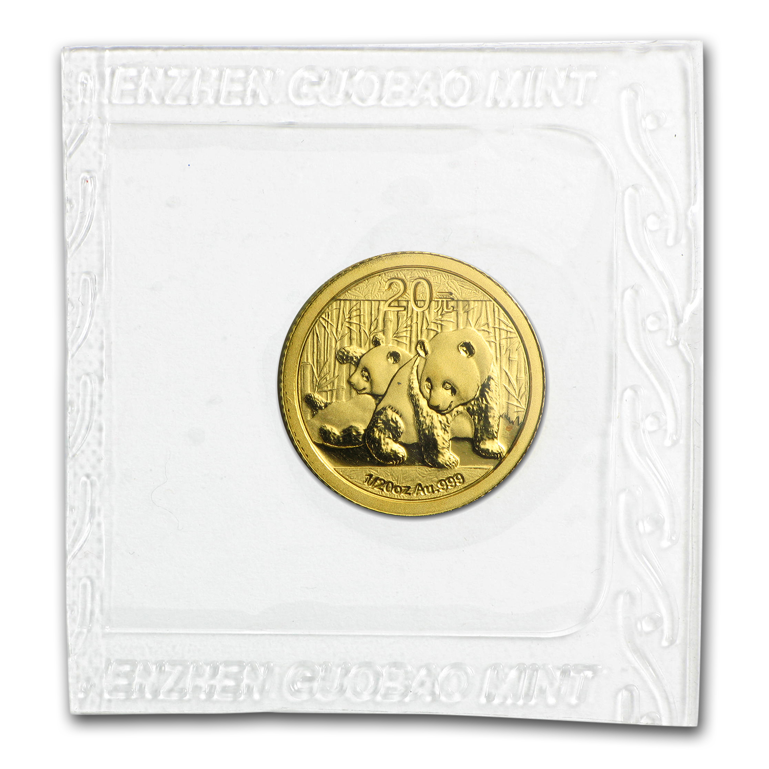 2010 China 1/20 oz Gold Panda BU (Sealed)
