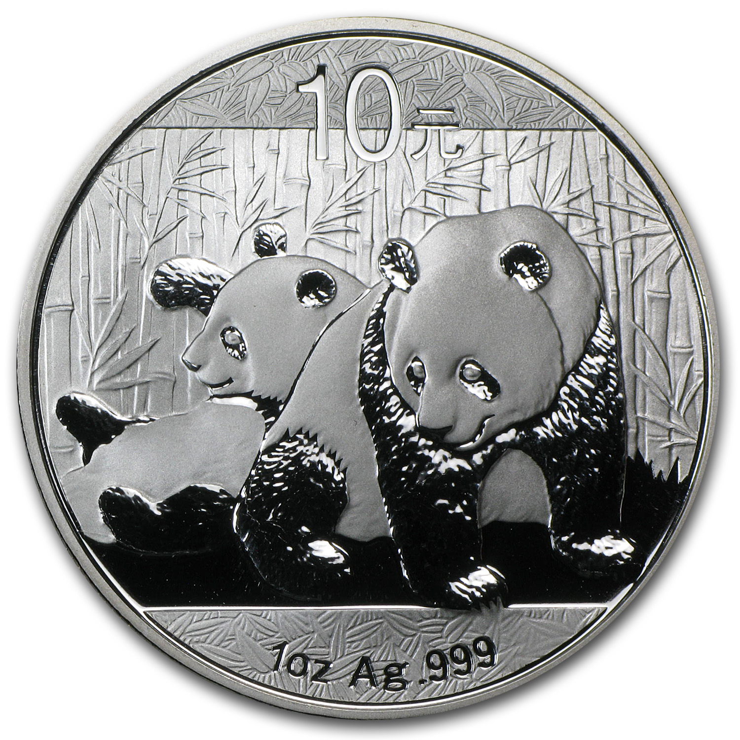 2010 China 1 oz Silver Panda BU (In Capsule)