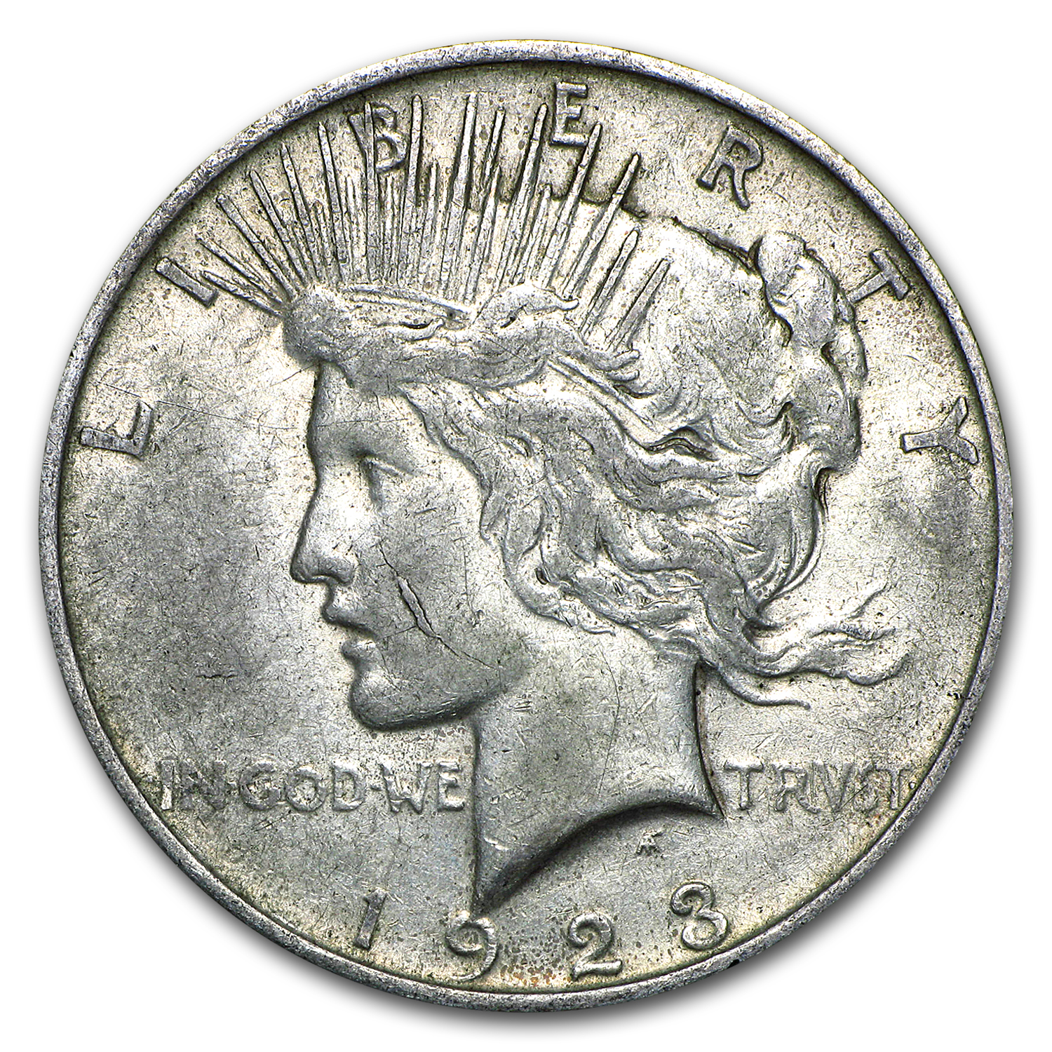 1923 Peace Dollar XF (VAM-1D Whisker Cheek, Top-50)