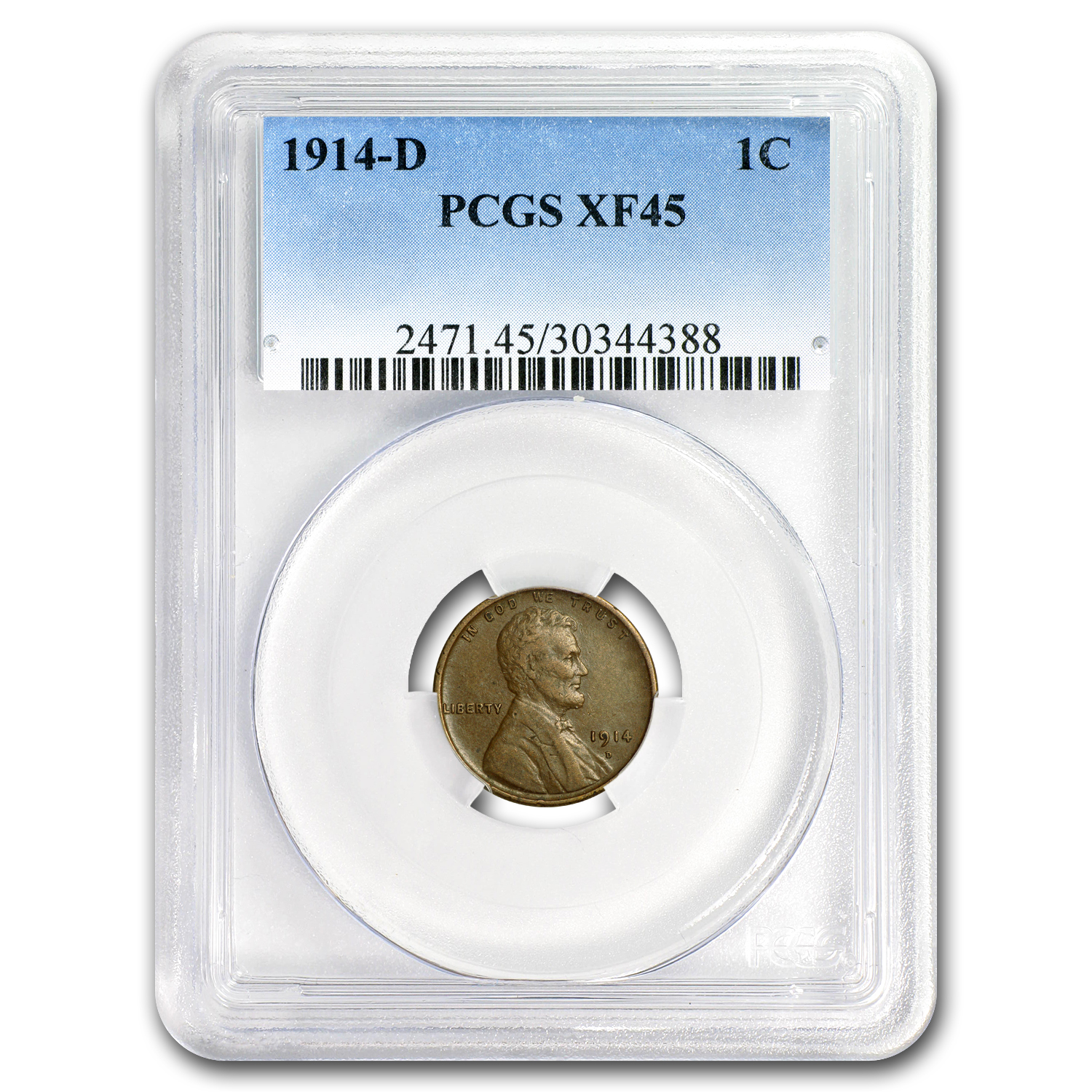 1914-D Lincoln Cent XF-45 PCGS