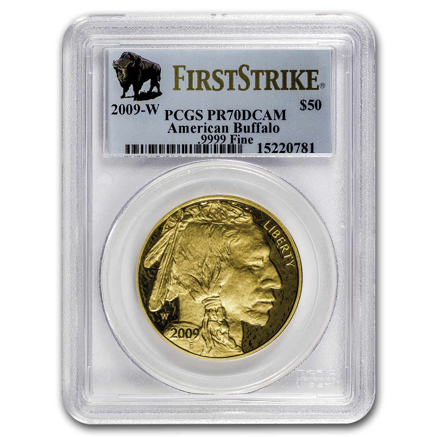 2009-W 1 oz Proof Gold Buffalo PR-70 DCAM PCGS (First Strike)