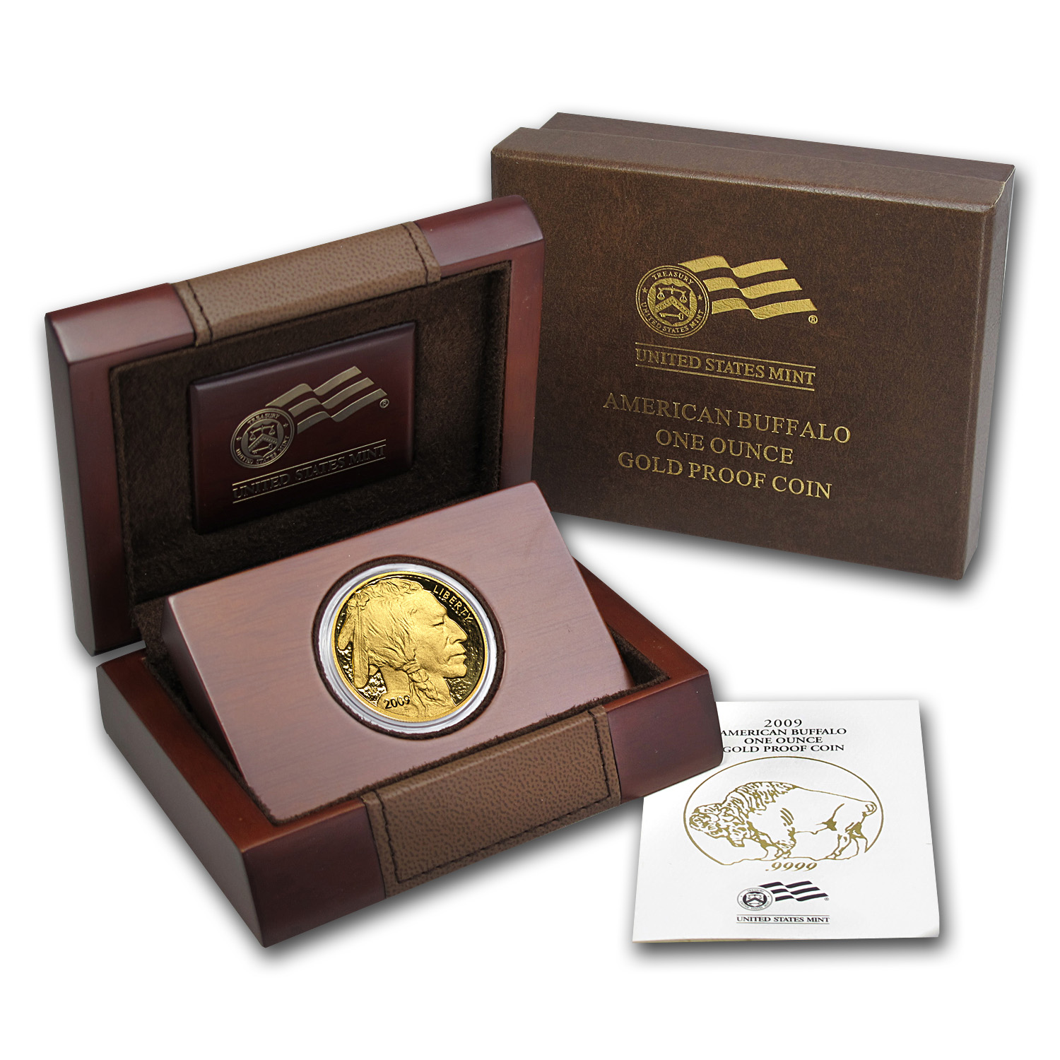 2009-W 1 oz Proof Gold Buffalo (w/Box & COA)