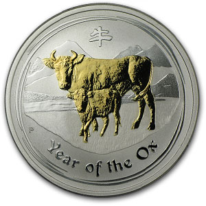 2009 4-Coin 1 oz Silver Australian Year of the Ox Proof Type Set
