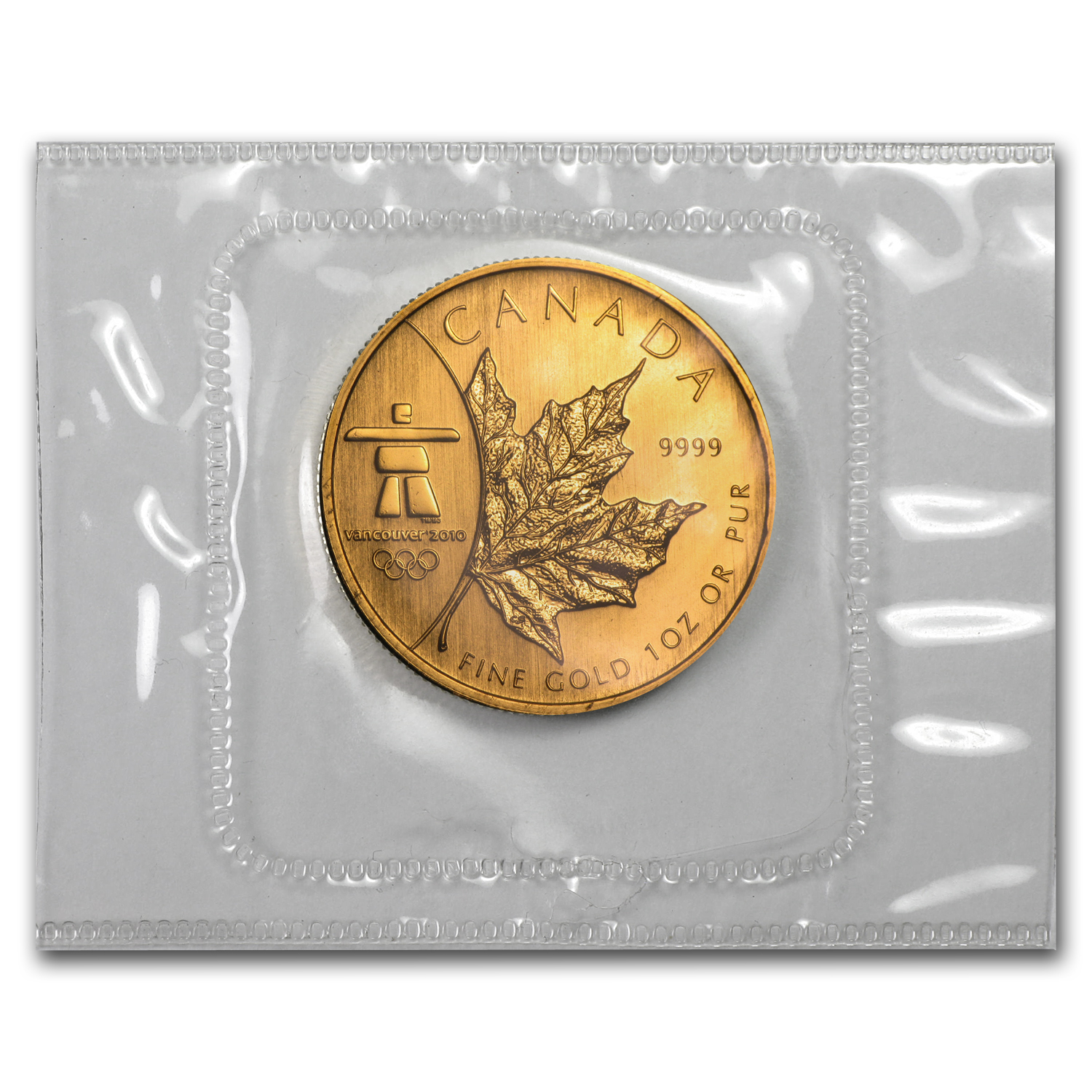 2008 1 oz Gold Canadian Maple Leaf (Vancouver) - Olympics