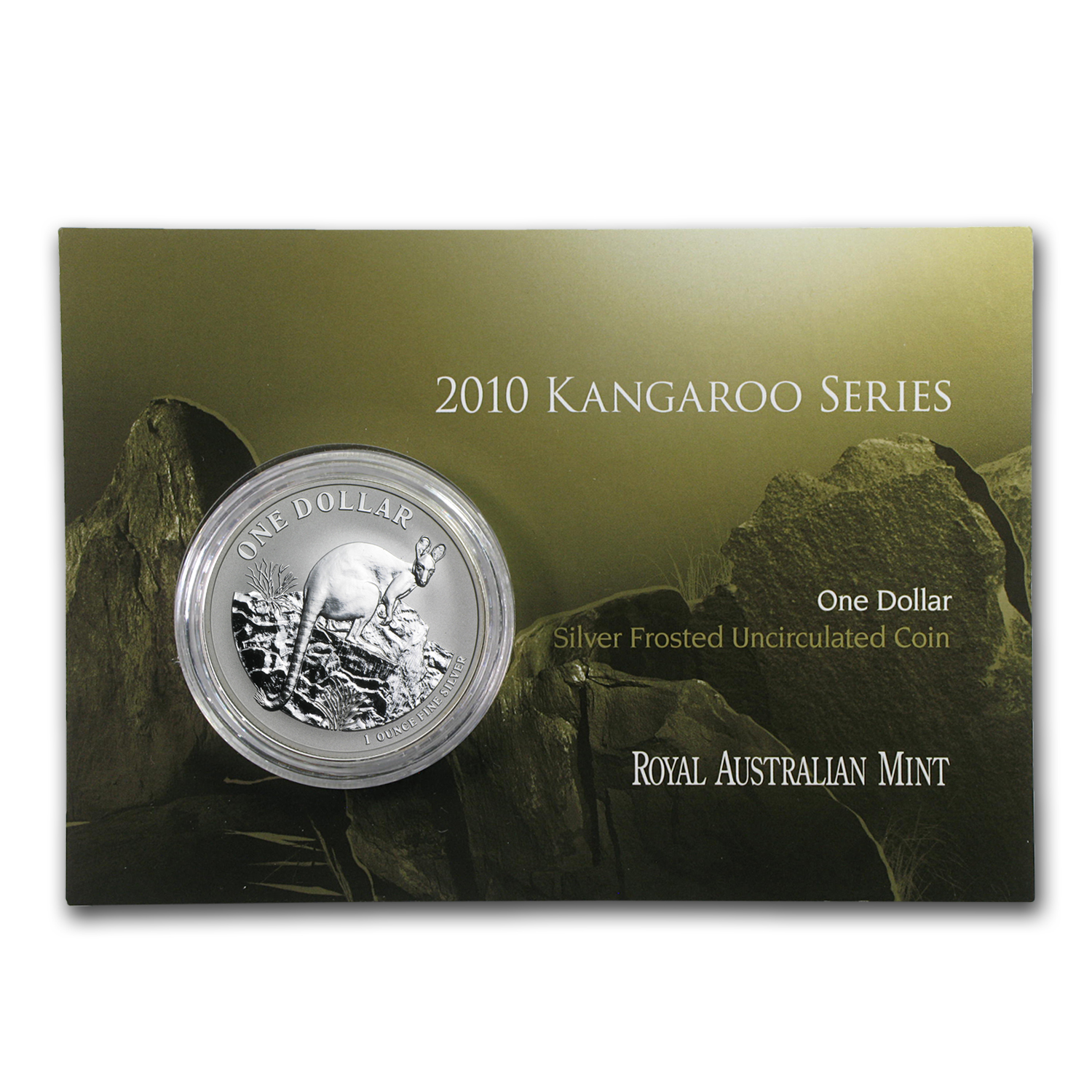 2010 Australia 1 oz Silver Kangaroo (In Display Card)