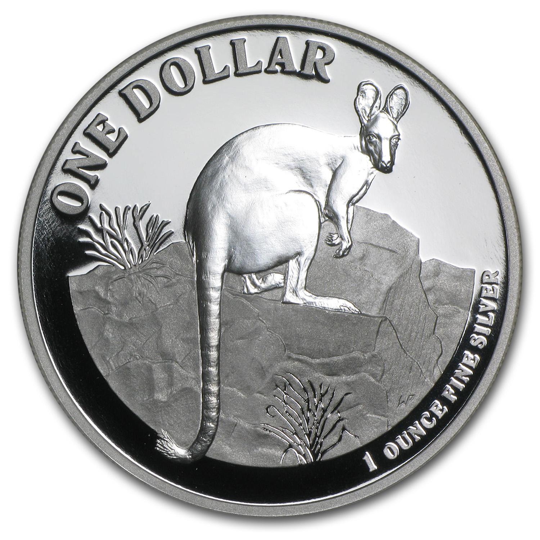 2010 Australia 1 Oz Silver Kangaroo Proof W Box Amp Coa
