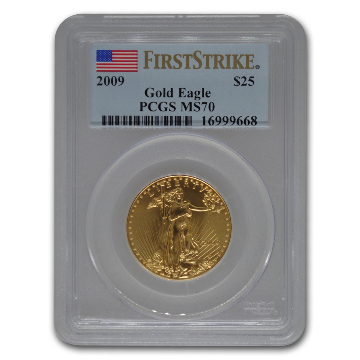 2009 1/2 oz Gold American Eagle MS-70 PCGS (FS)