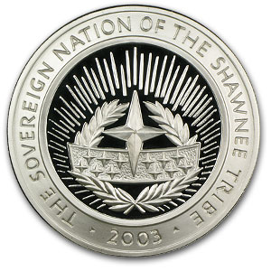 4 oz Silver Round - Shawnee Tribe (Proof/2003)