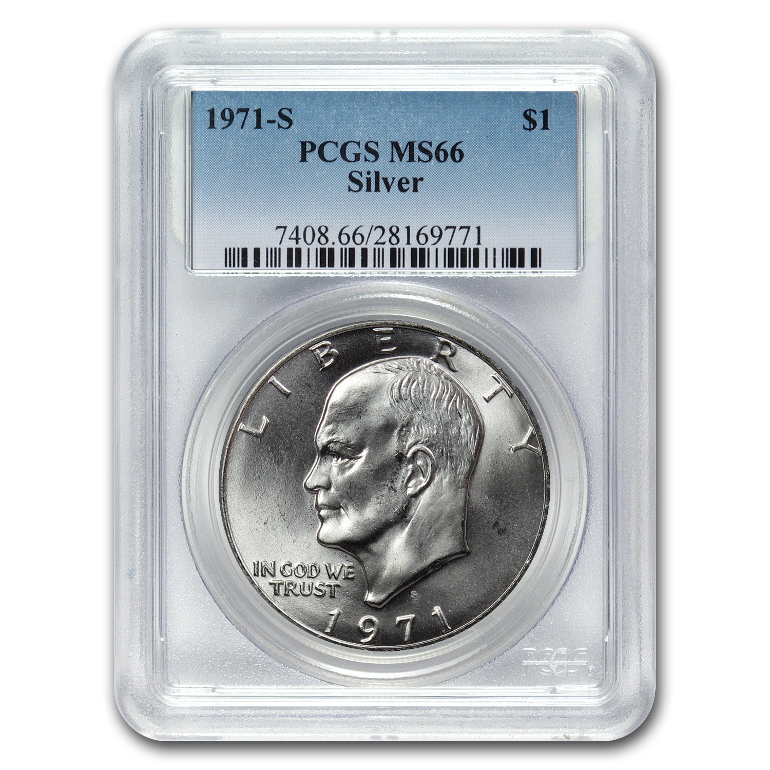 1971-S Eisenhower Silver Dollar MS-66 PCGS