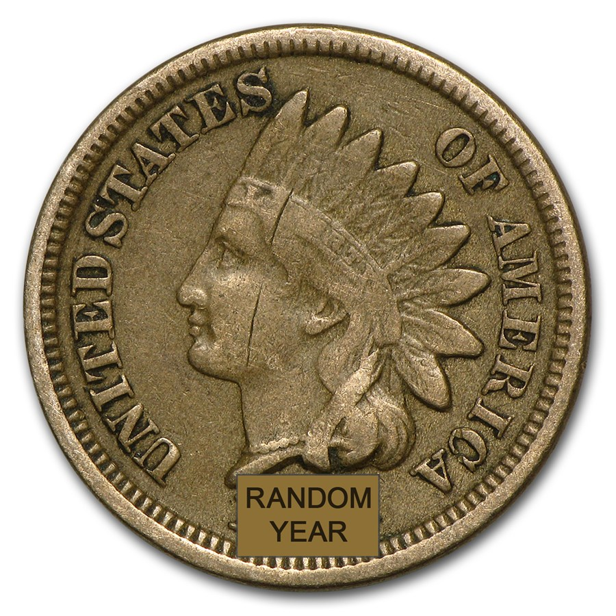 1859 1864 Indian Head Cents Copper Nickel Avg Circ