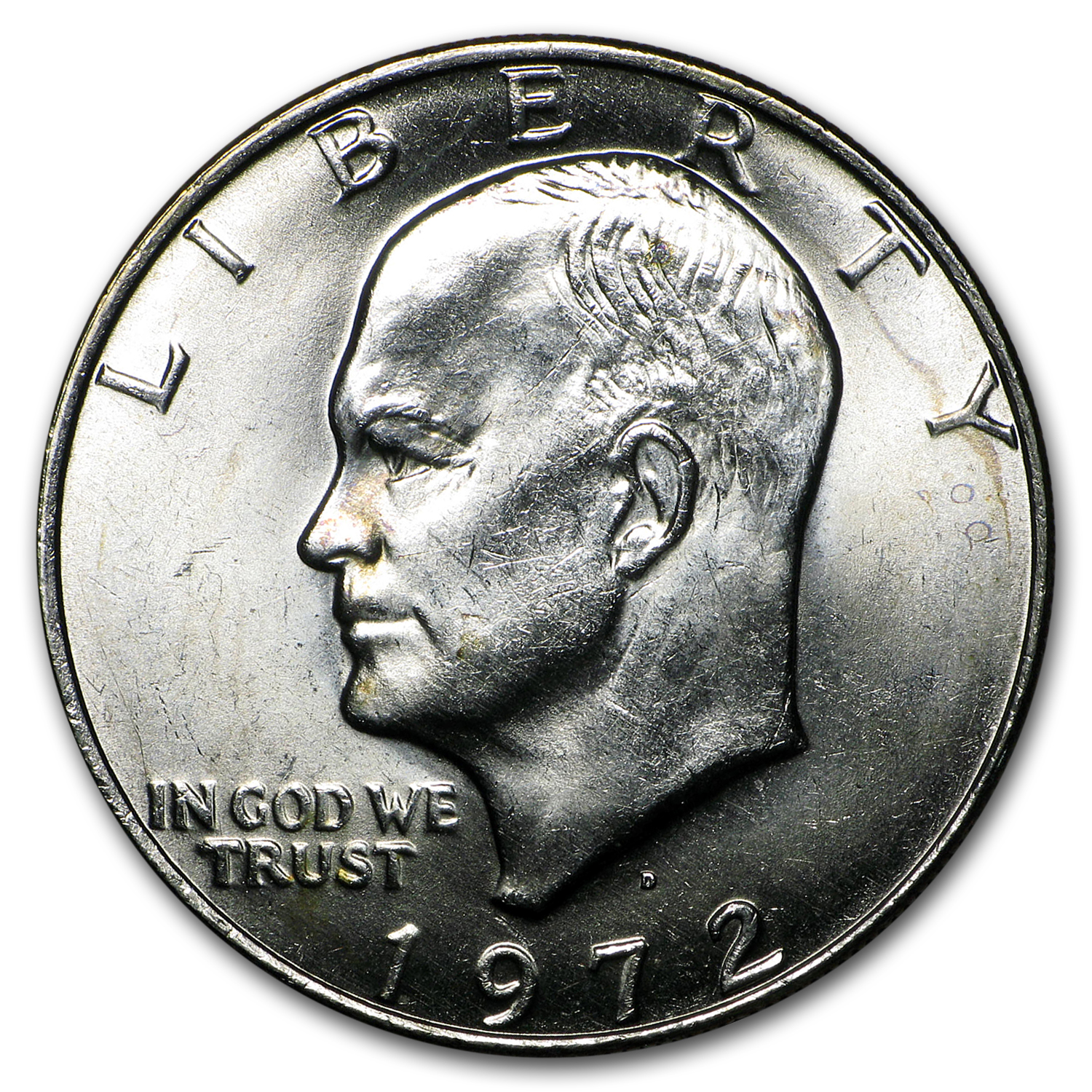 1972 Clad Eisenhower Dollar XF (Type 2)