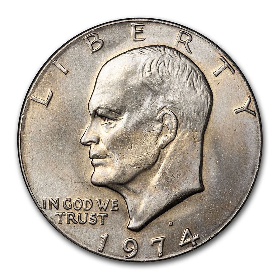 1971-1978 Clad Eisenhower Dollar BU (Copper-Nickel)