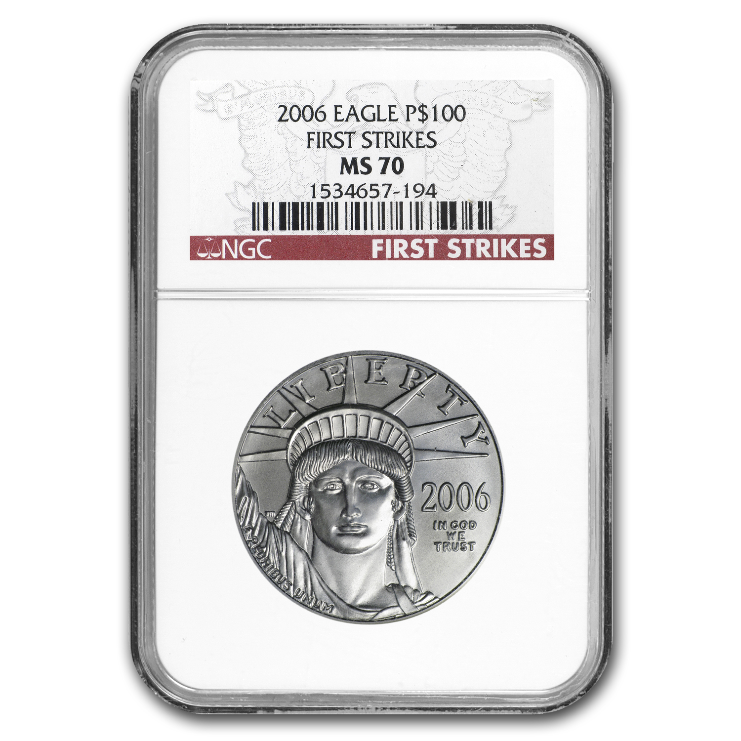 2006 1 oz Platinum American Eagle MS-70 NGC (First Strike)