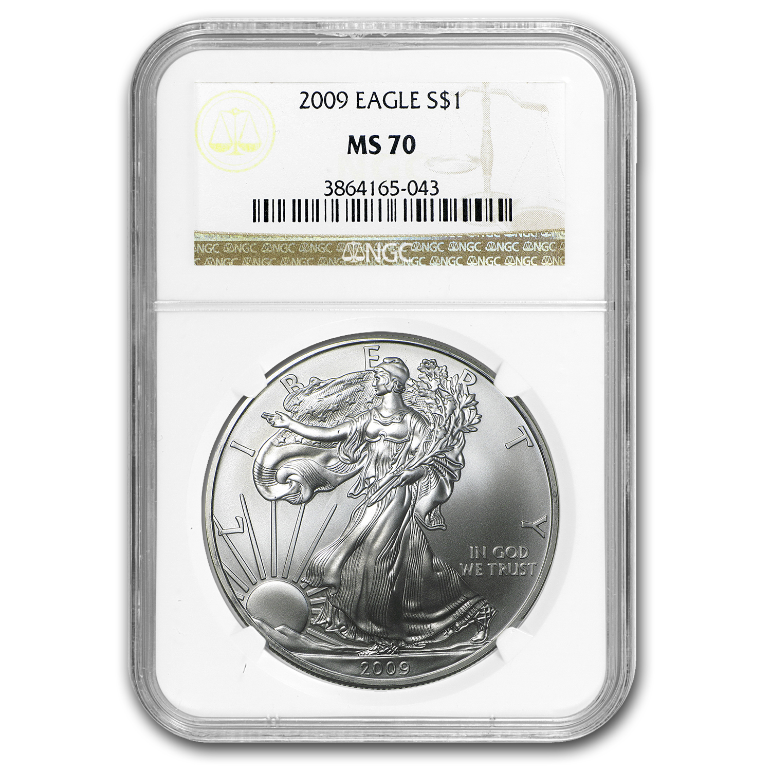 2009 Silver American Eagle MS-70 NGC