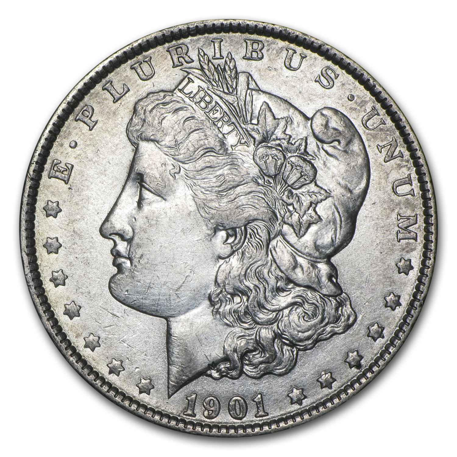 1901 Morgan Dollar AU Details (Cleaned)