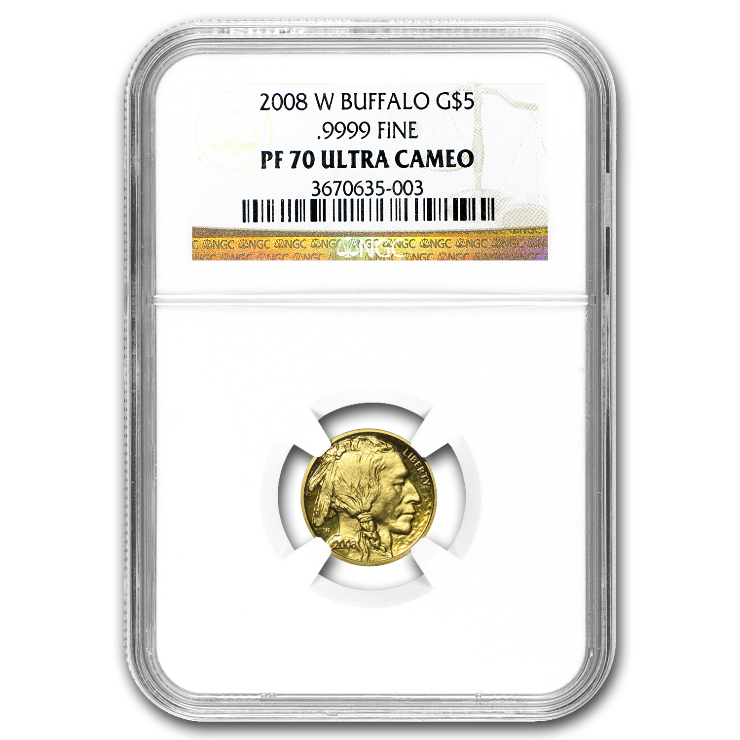 2008-W 4-Coin Proof Gold Buffalo Set PF-70 NGC