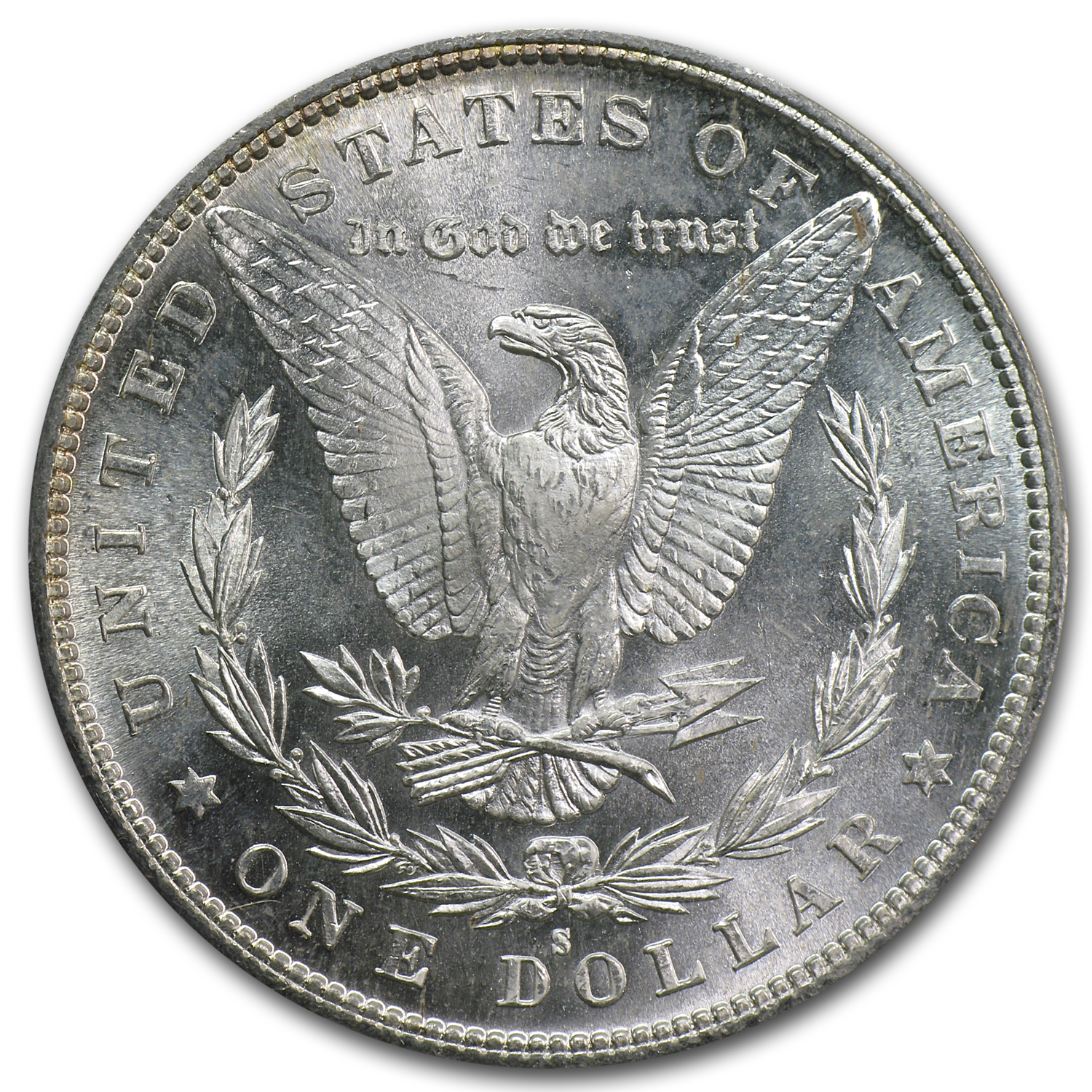 1880/79-S Morgan Dollar - MS-63 PCGS 80/79 Overdate Top-100