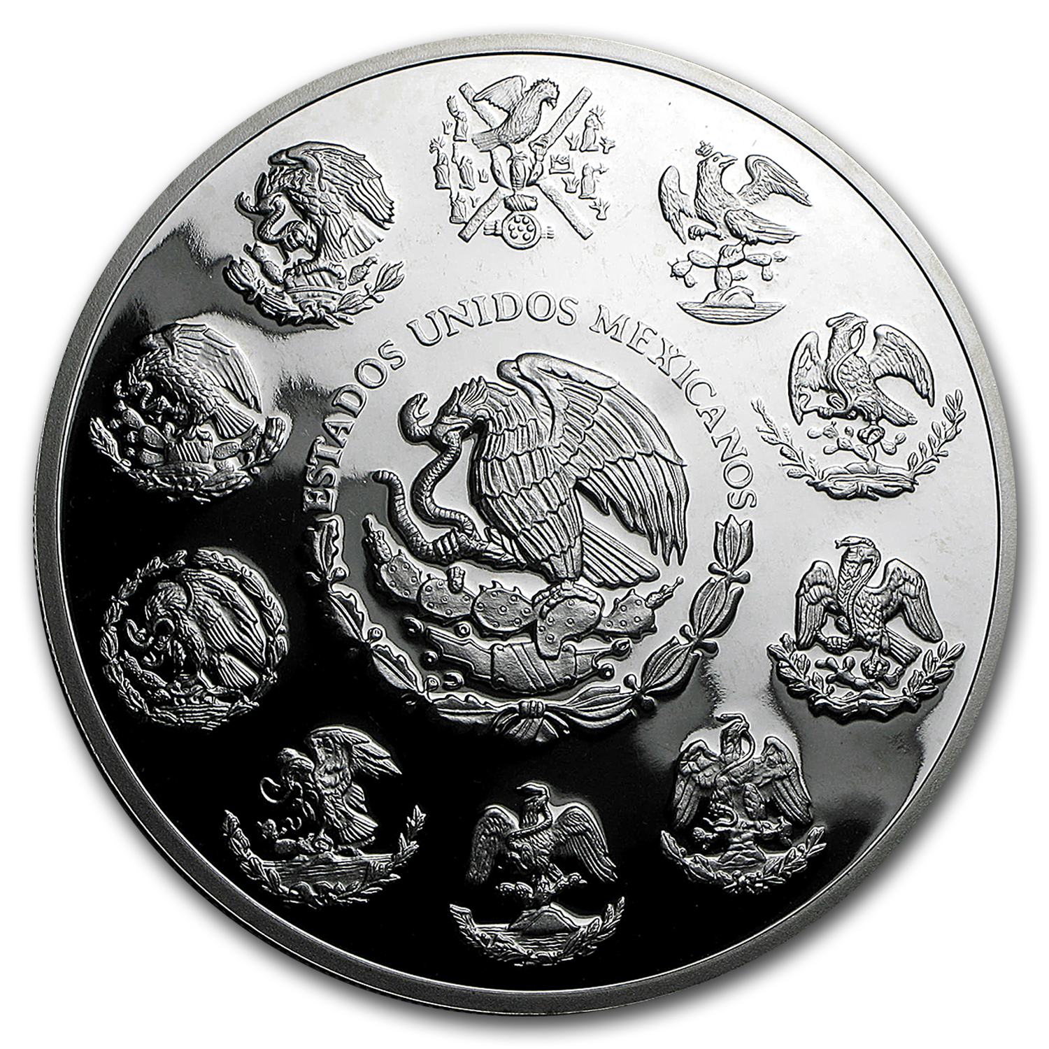 2010 Mexican 5 oz Silver Libertad Proof (In Capsule)