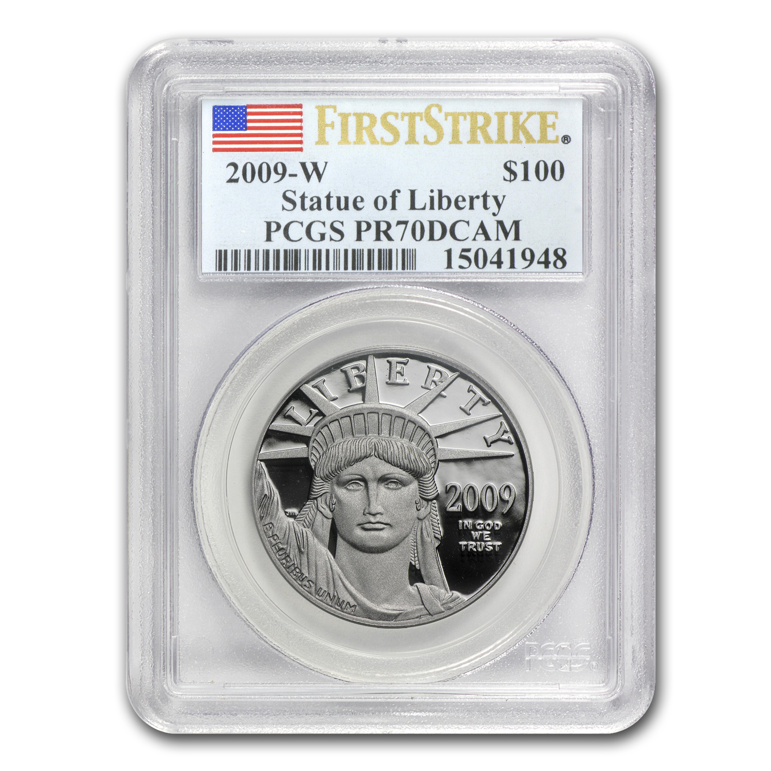2009-W 1 oz Prf Platinum American Eagle PR-70 PCGS (First Strike)