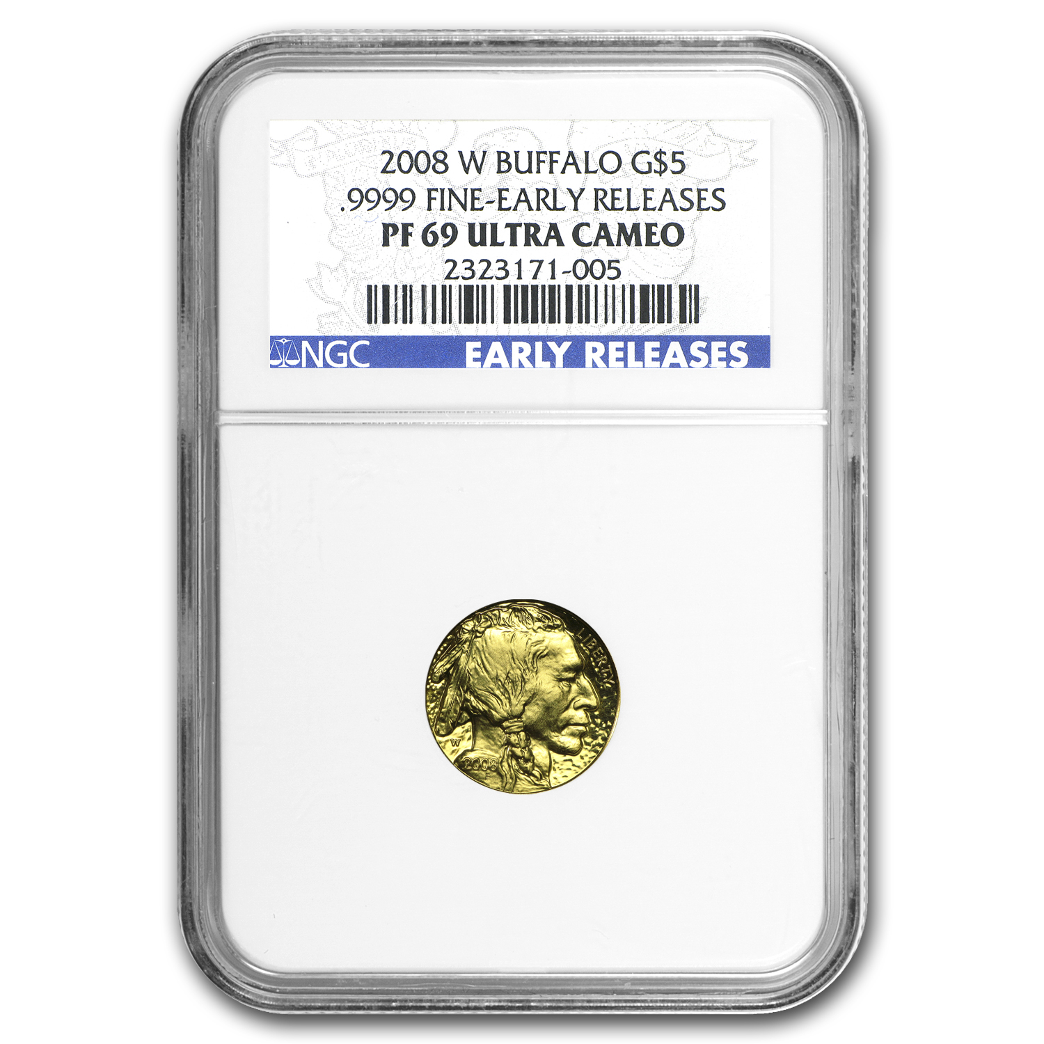 2008-W 1/10 oz Proof Gold Buffalo PF-69 NGC (ER)