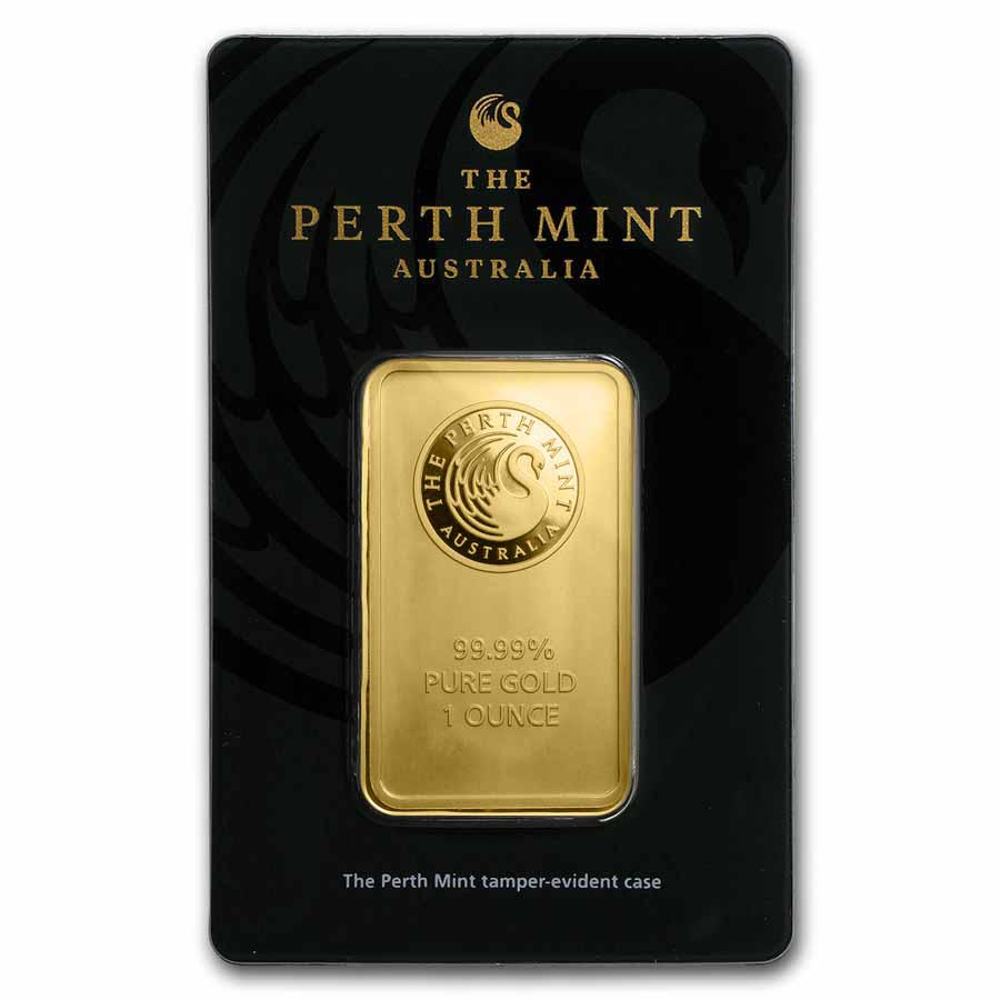 1 oz Gold Bars - Perth Mint (In Assay)