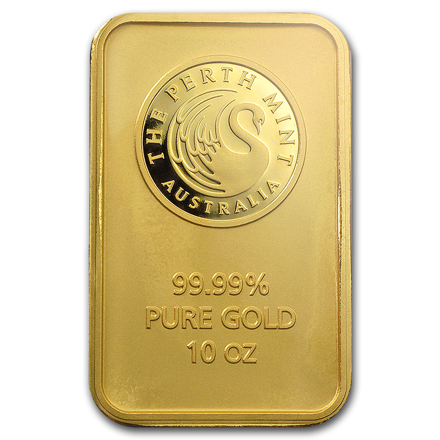 10 oz Gold Bars - Perth Mint (In Assay)
