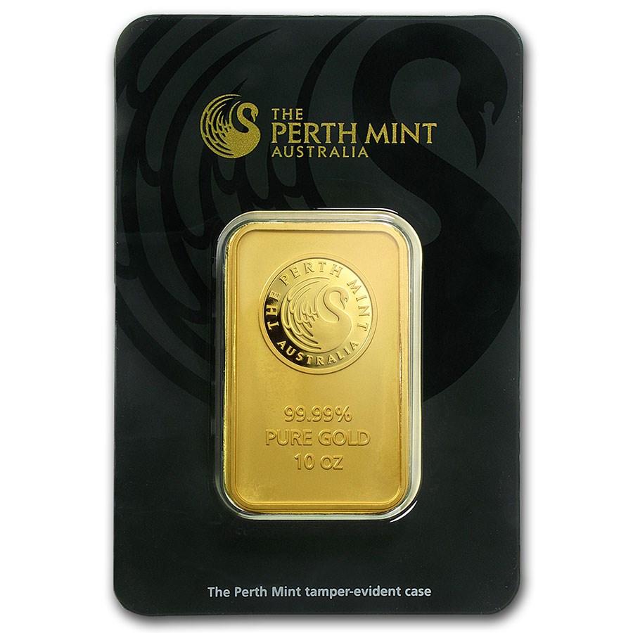 10 Oz Gold Bars From Perth Mint Ten Ounce Perth Mint