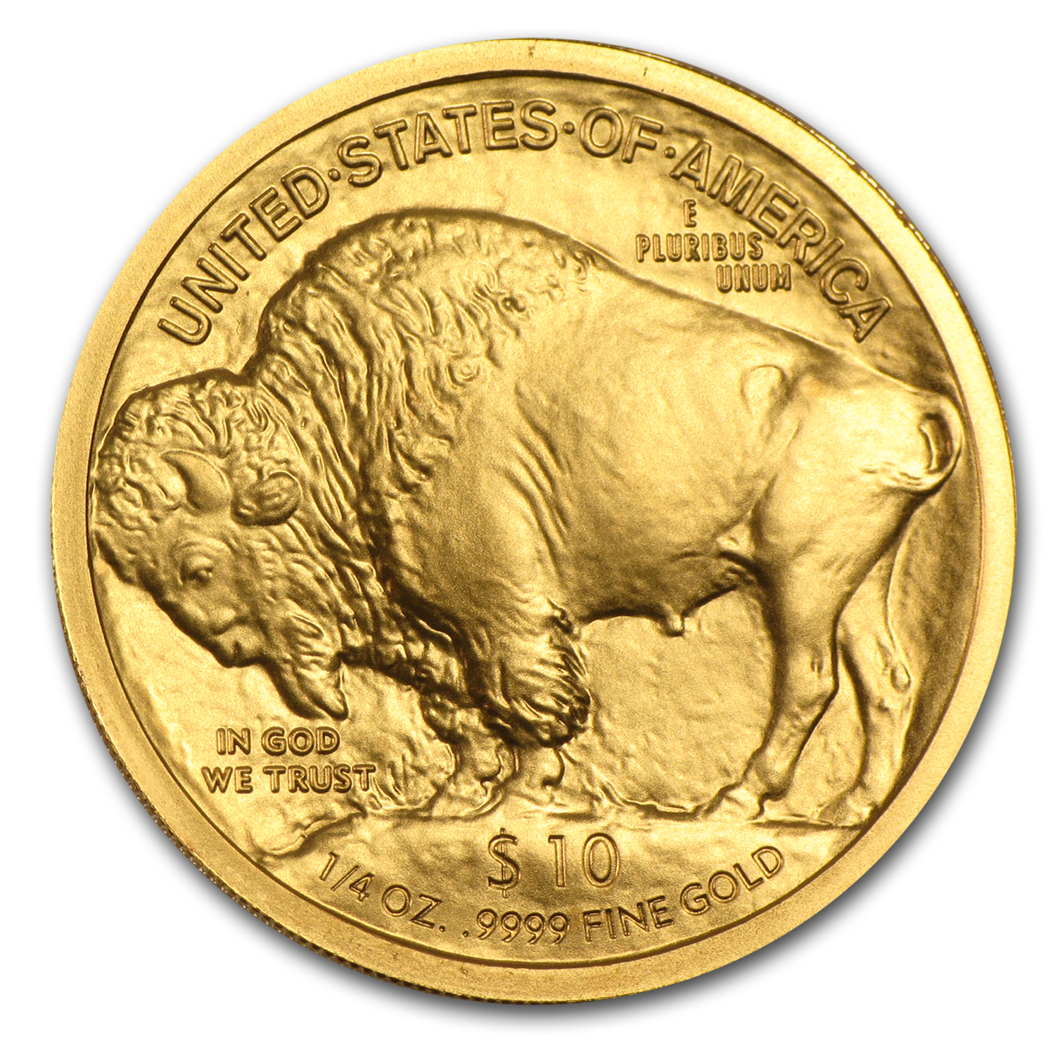 2008-W 1/4 oz Uncirculated Gold Buffalo (w/Box & CoA)