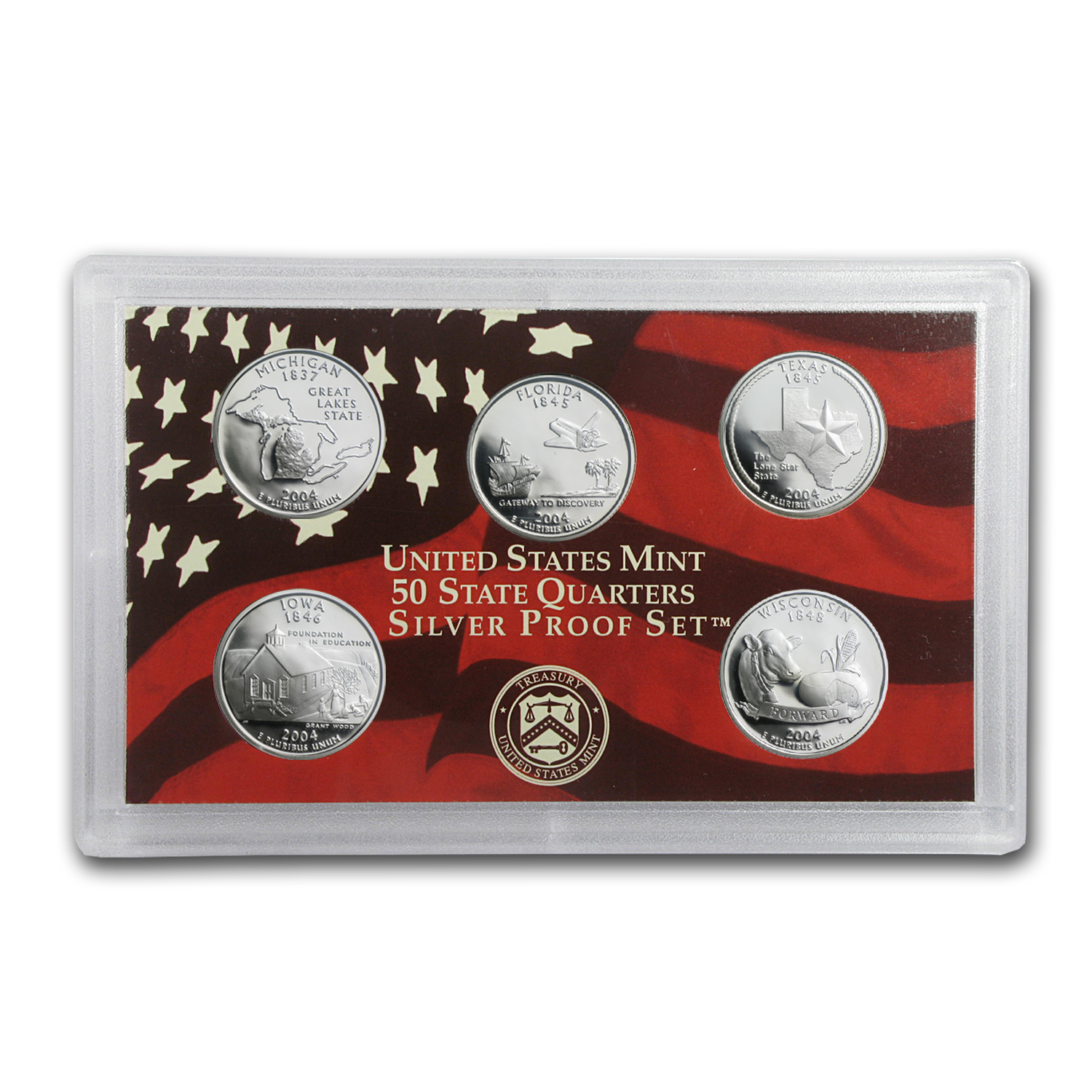 90% Silver Statehood/ATB Quarter Proof Sets (Random Years)