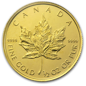 2010 Canada 1/2 oz Gold Maple Leaf BU