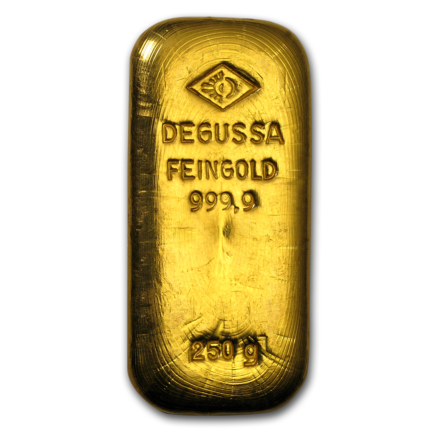 250 gram Gold Bar - Degussa