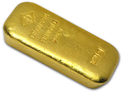 250 gram Gold Bars - Degussa