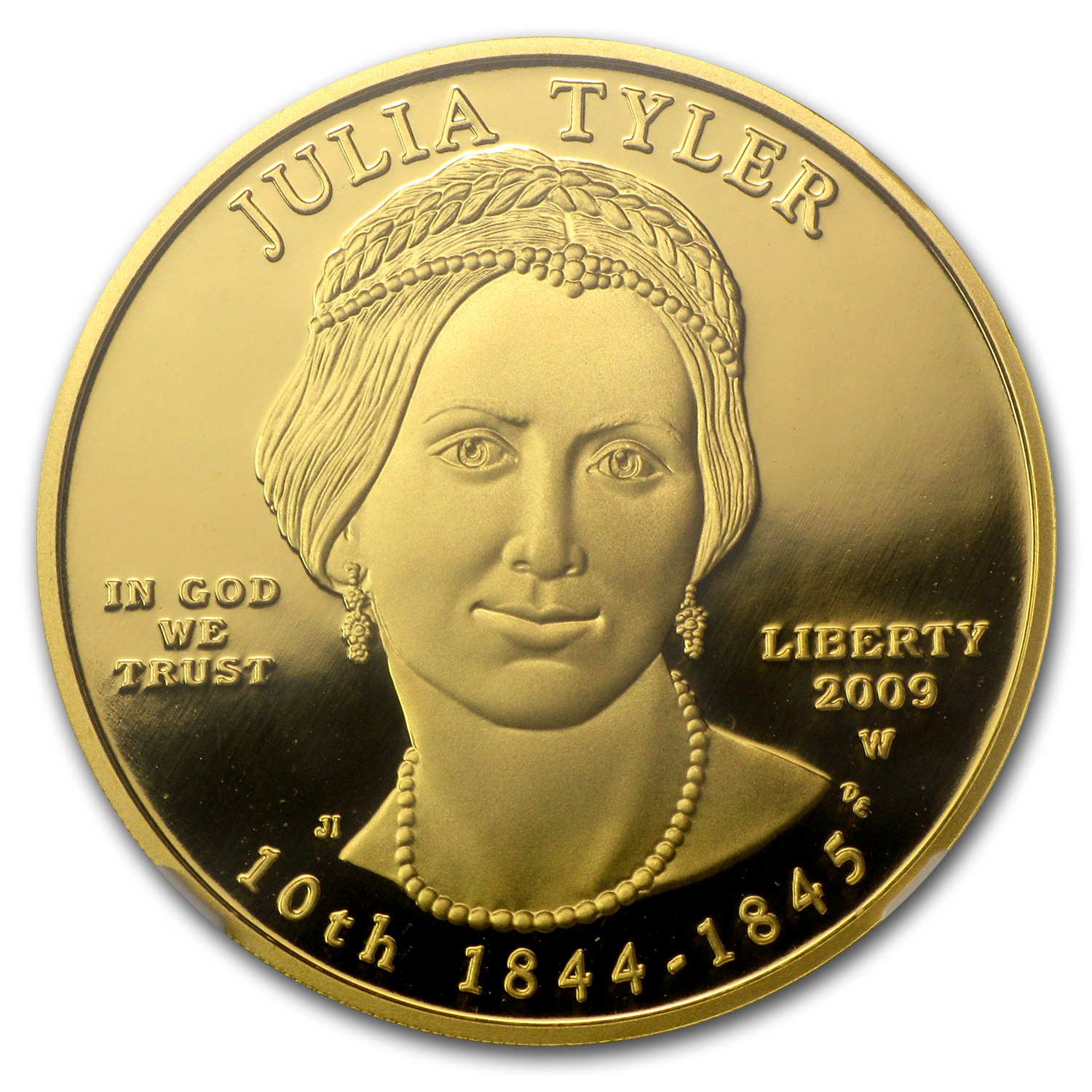 2009-W 1/2 oz Proof Gold Julia Tyler PF-70 NGC