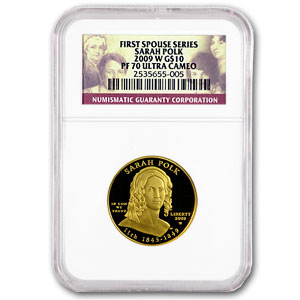 2009-W 1/2 oz Proof Gold Sarah Polk PF-70 NGC UCAM
