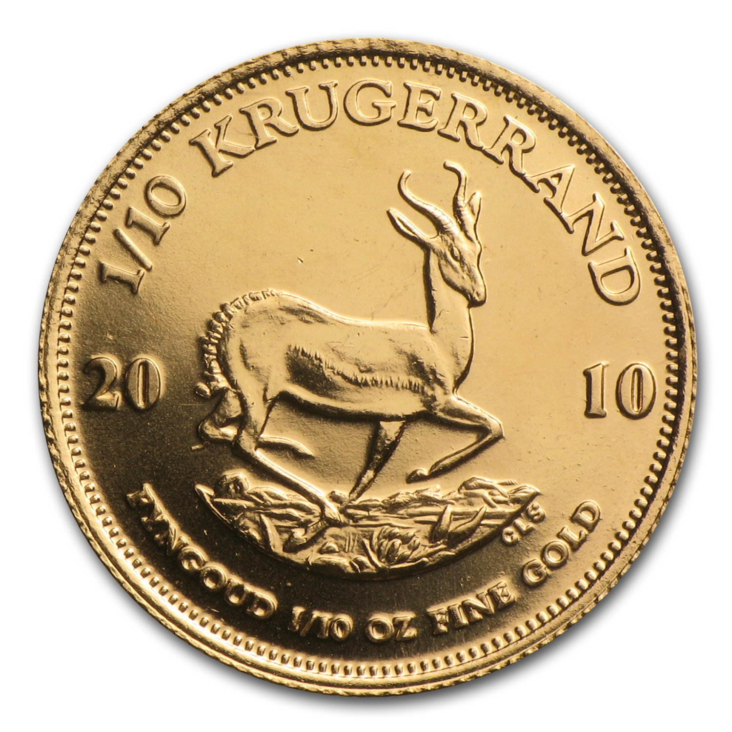 2010 South Africa 1/10 oz Gold Krugerrand