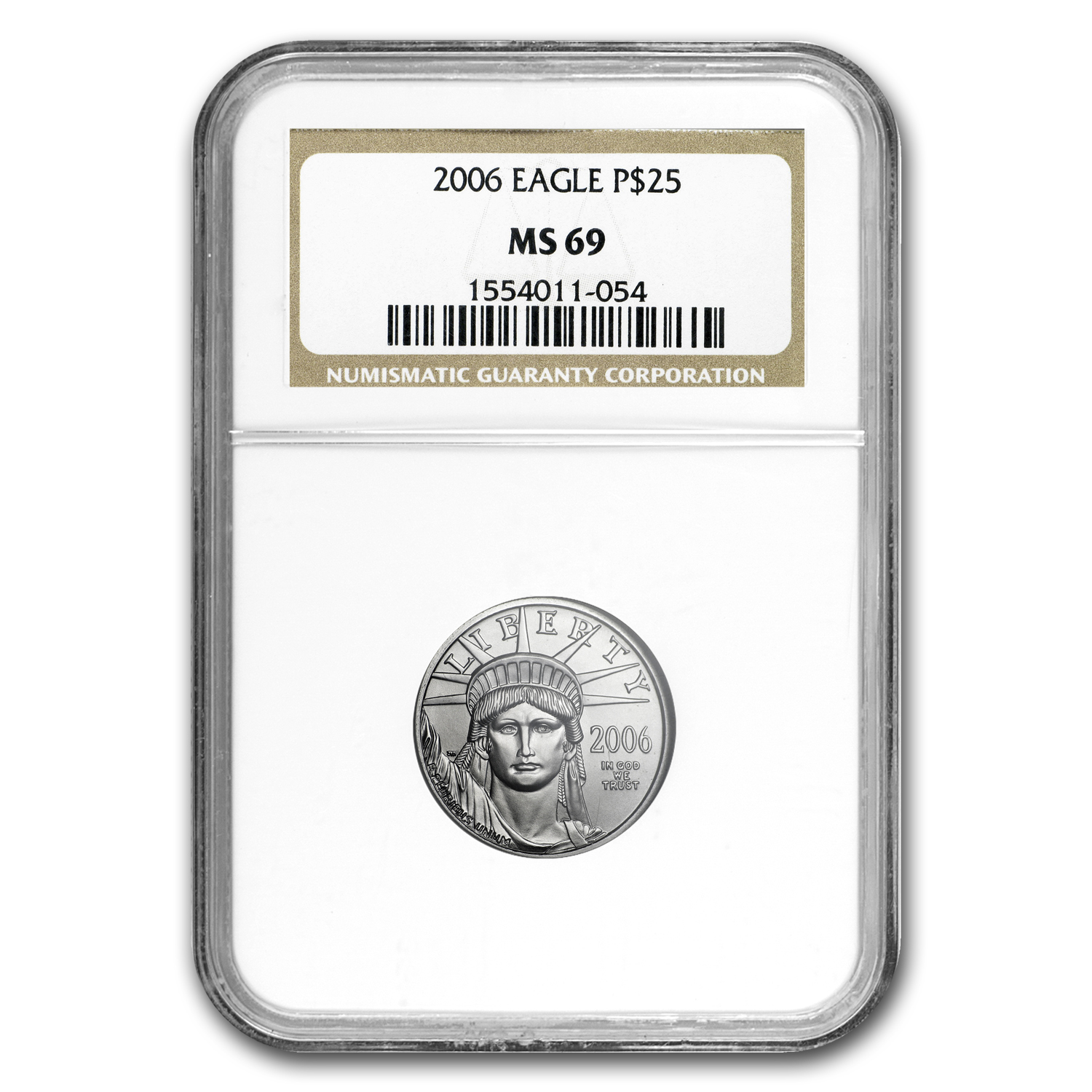 2006 1/4 oz Platinum American Eagle MS-69 NGC