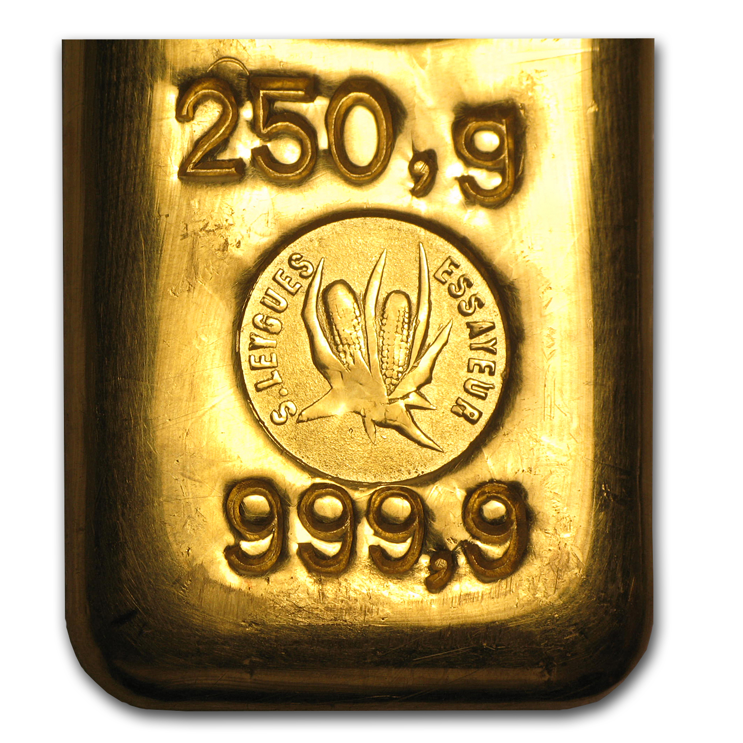 250 gram Gold Bars - Swiss Bank Corporation Gold Bar