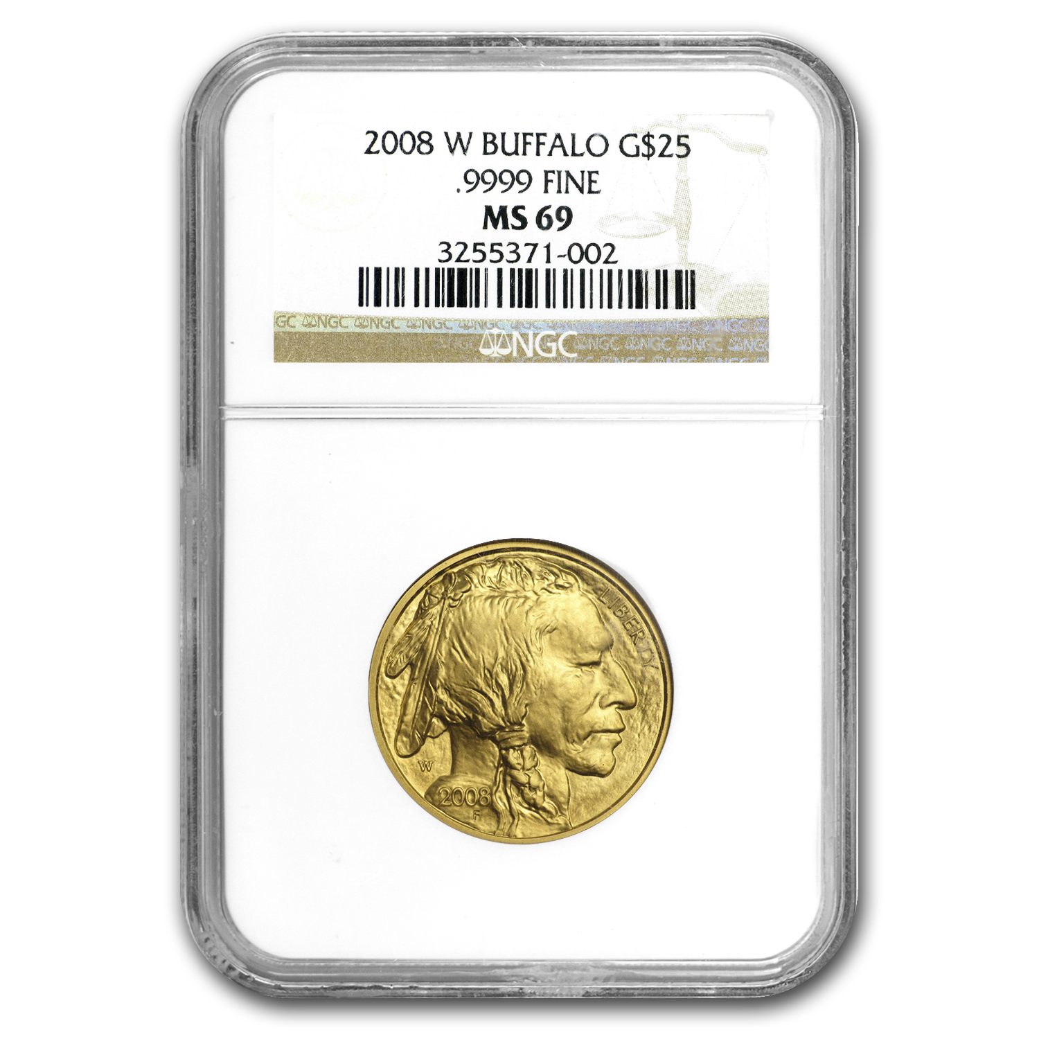 2008-W 1/2 oz Gold Buffalo MS-69 NGC