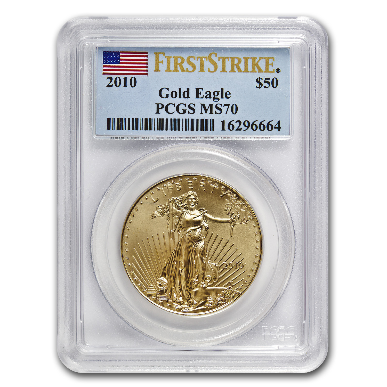 2010 1 oz Gold American Eagle MS-70 PCGS (FS)