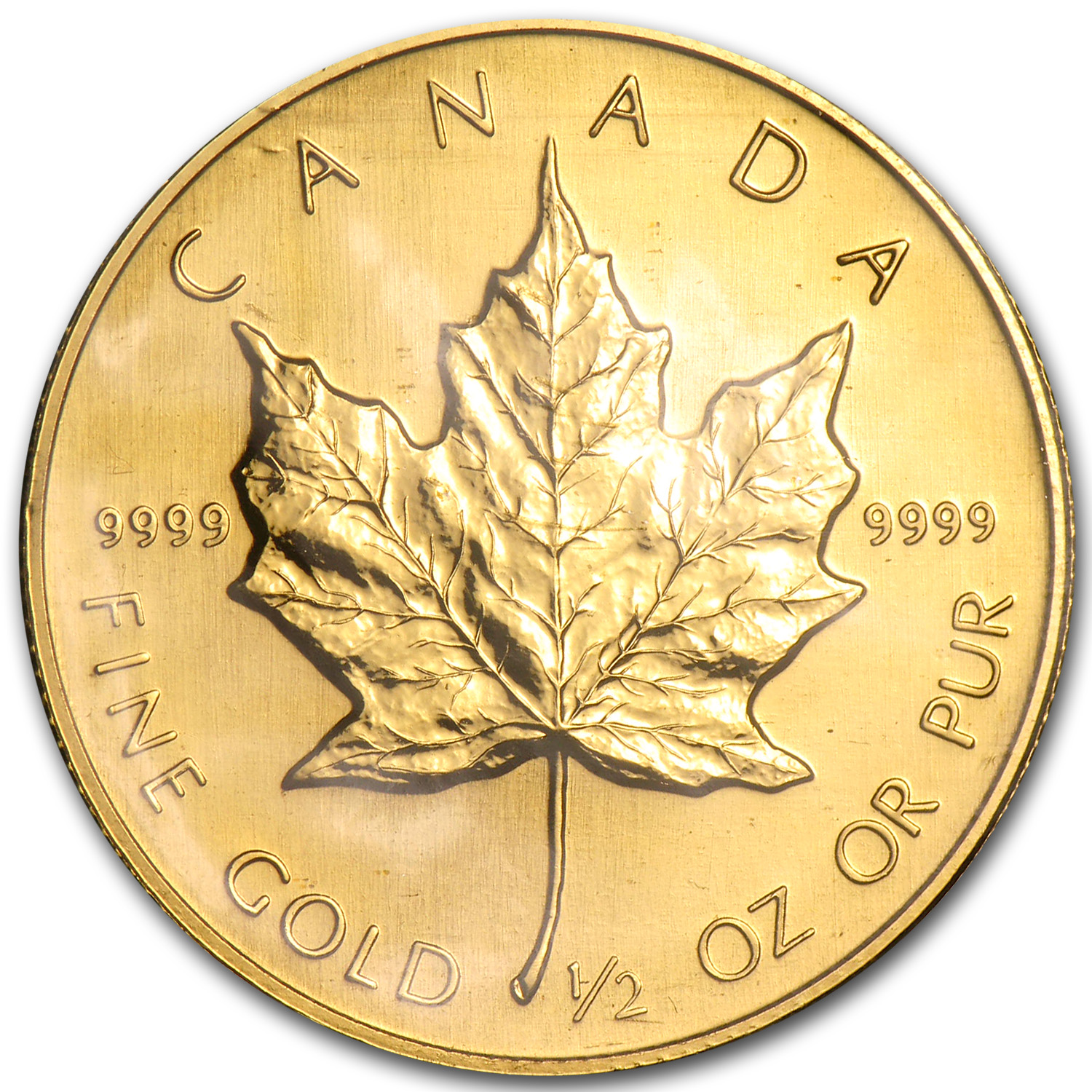 1989 Canada 1/2 oz Proof Gold Maple Leaf