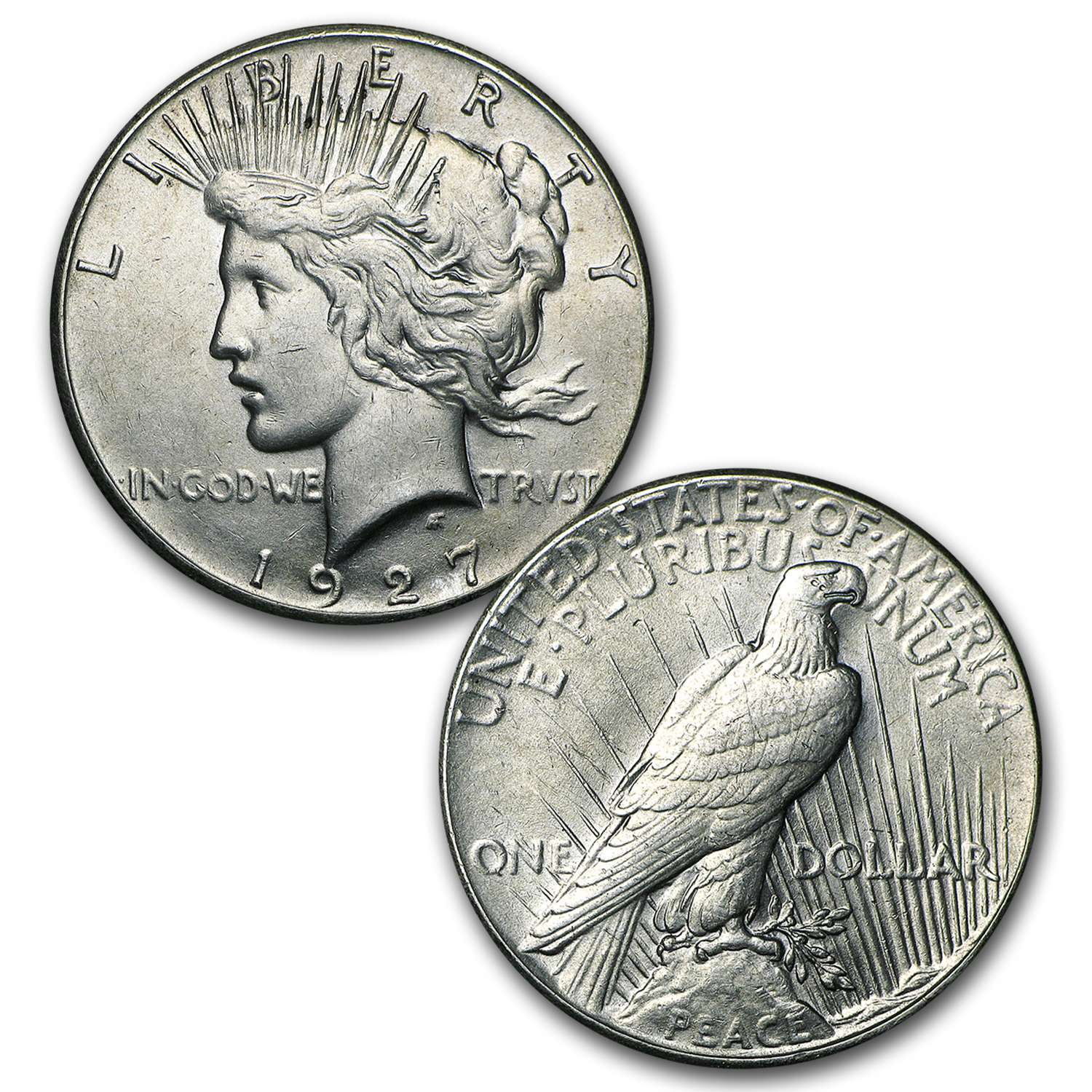 Peace Dollar Set Complete (In Dansco Album) - 24 Coins (AU)