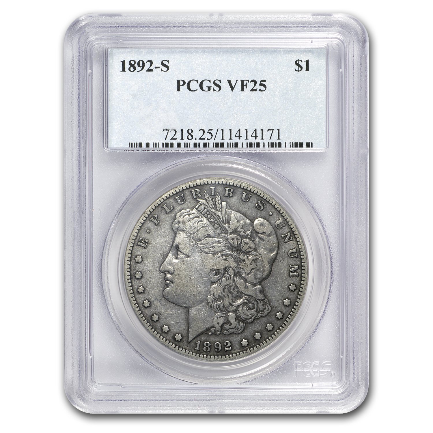 1892-S Morgan Dollar VF-25 PCGS