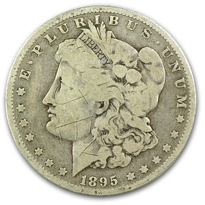 1895-O Morgan Dollar - Very Good Details - Damaged