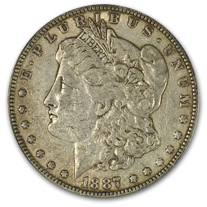1887 Morgan Dollar XF-45 PCGS (VAM-1A, Donkey Tail, Top-100)