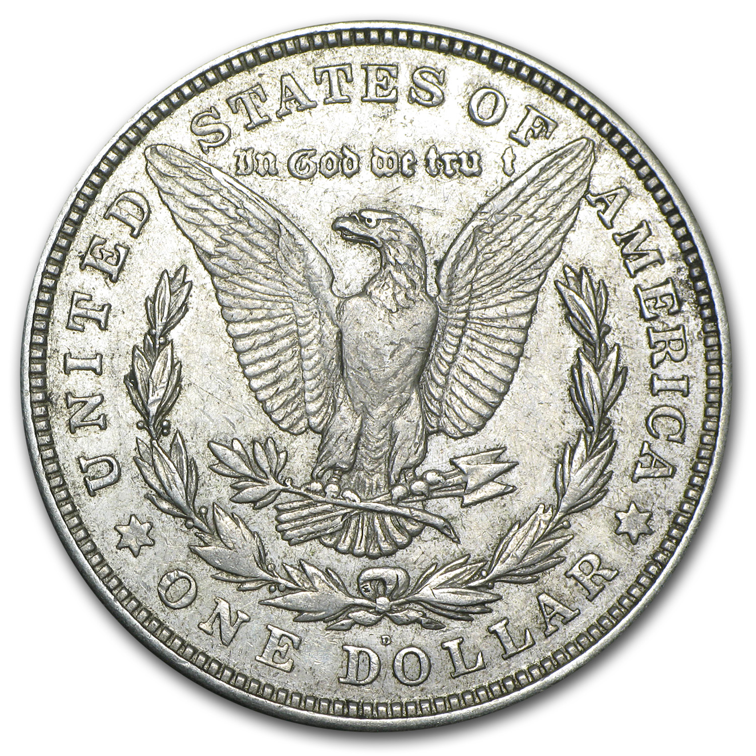 1921-D Morgan Dollar - XF-45 - VAM-1A God We Tru-t Top-100 PCGS